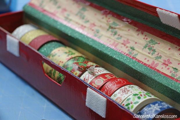 Holiday Washi Tape Dispense - Wax Paper Box