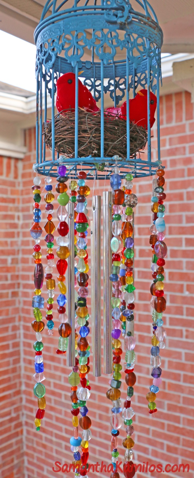 Beaded Birdcage Wind-Chime